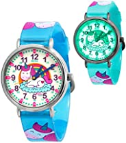 KIDDUS Educational Kids Watch for Children, Boys and Girls. Analogue Time Teacher Wristwatch with Exercises, J