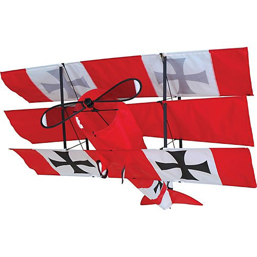 Red Triplane Baron (Red Baron Triplane Kite)