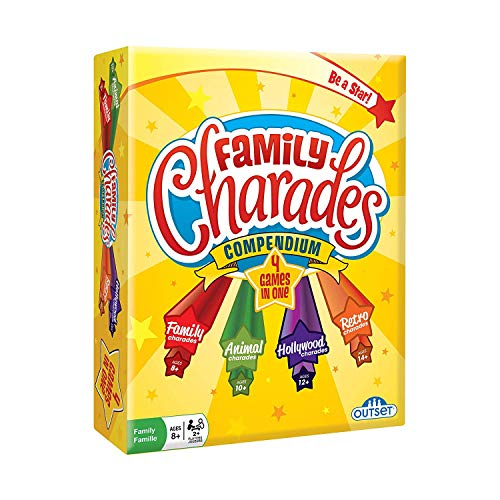 (Charades Party Game - Family Charades-in-a-Box Compendium Board Game - Features 6 Themes, 360 Cards, Spinner, And Sand-Timer (Ages)