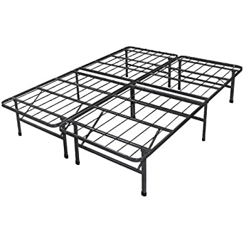 spa sensations steel smart base bed frame full size in black