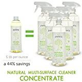 Puracy Natural Multi-Surface Cleaner Concentrate - The BEST Streak-Free All Purpose Cleaner - Makes 1 Gallon - Green Tea & Lime - 16 Ounce Bottle
