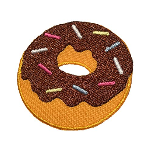 Doughnut velcro patch - emoji velcro patches for backpacks, hats, vests, and gear (Patch Donut)