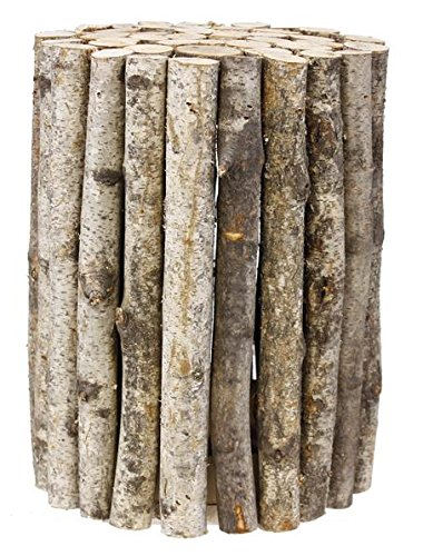 8' High Riser (birch log plant stand - 11'' diameter x 8'' high)