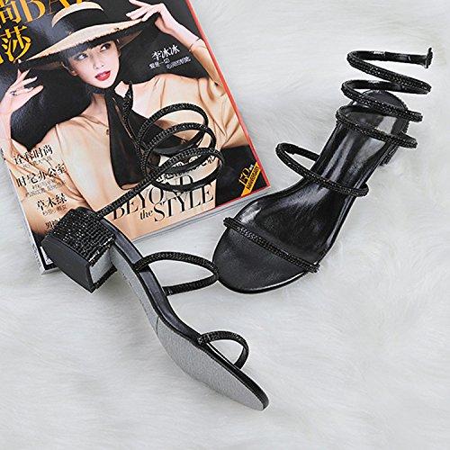 chun Rond Audacieux Fminines Sandales Avec Des Rugueuses De Pieds Serpent Nus Les Chenilles 38 En Dans Pied Chaussures Motifs xwHgvqc1