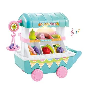 Mini tienda de frutas de verduras, 28 piezas de carritos de compras de supermercado para