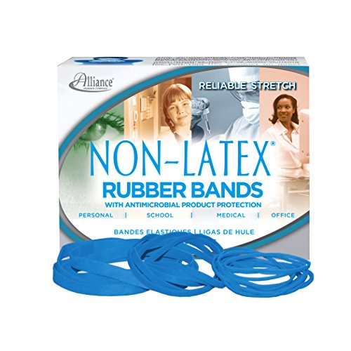 (Alliance Rubber 42549  #54 Assorted Non-Latex Antimicrobial Rubber Bands, 1/4 lb box contains #19, #33, #64 elastics (3 1/2