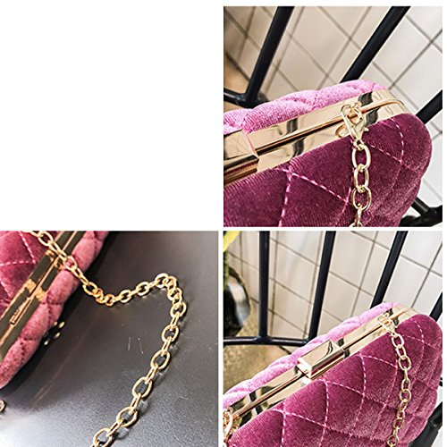 Wallet Bag Suede Elegant Evening Shell Luxury Bag Women Brown Clutch ZwqfwPI