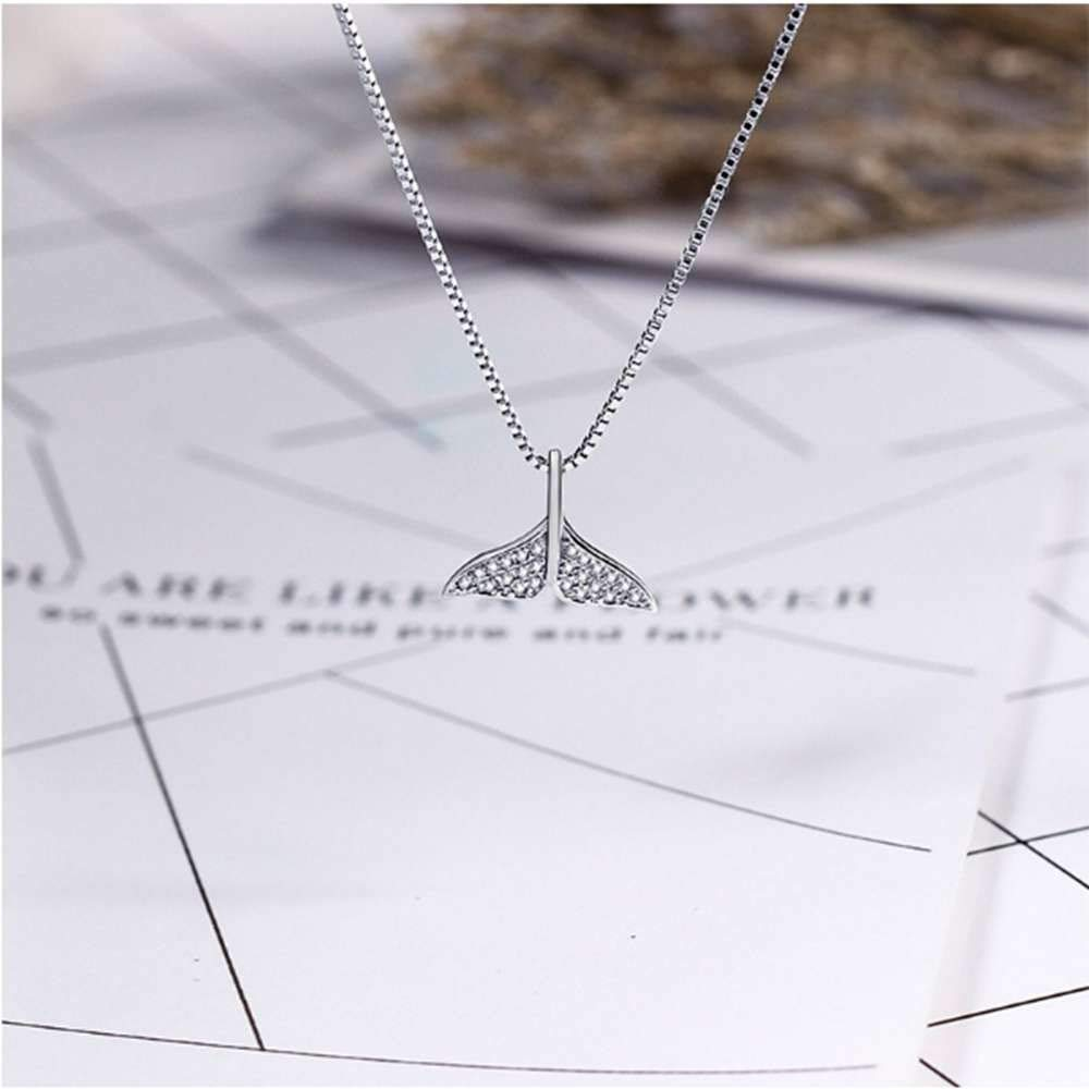 SONGBB necklace Korean Version of The Dolphin Tail Pendant Wild Clavicle Chain Personalized Jewelry
