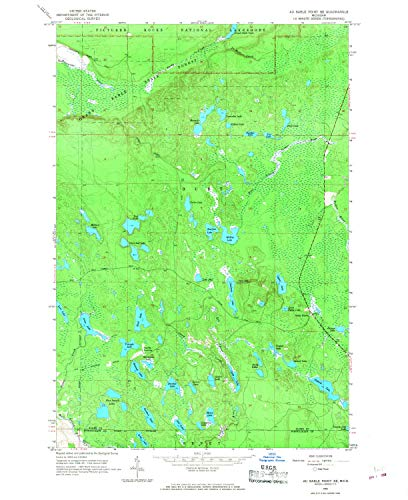 YellowMaps Au Sable Point SE MI topo map, 1:24000 Scale, 7.5 X 7.5 Minute, Historical, 1966, Updated 1968, 26.9 x 21.9 in - Paper (Bearfoots Moose)