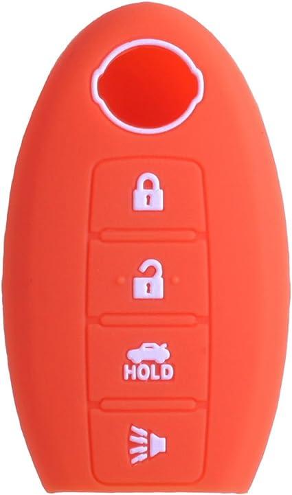 Pink KAWIHEN 2pcs Silicone Smart Remote Key Fob Cover Protector For Nissan 5 button Nissan 350Z 370Z Altima Armada GT-R Leaf Pathfinder Rogue Sentra Maxima Murano Versa CWTWB1U840 285E3-3SG0D