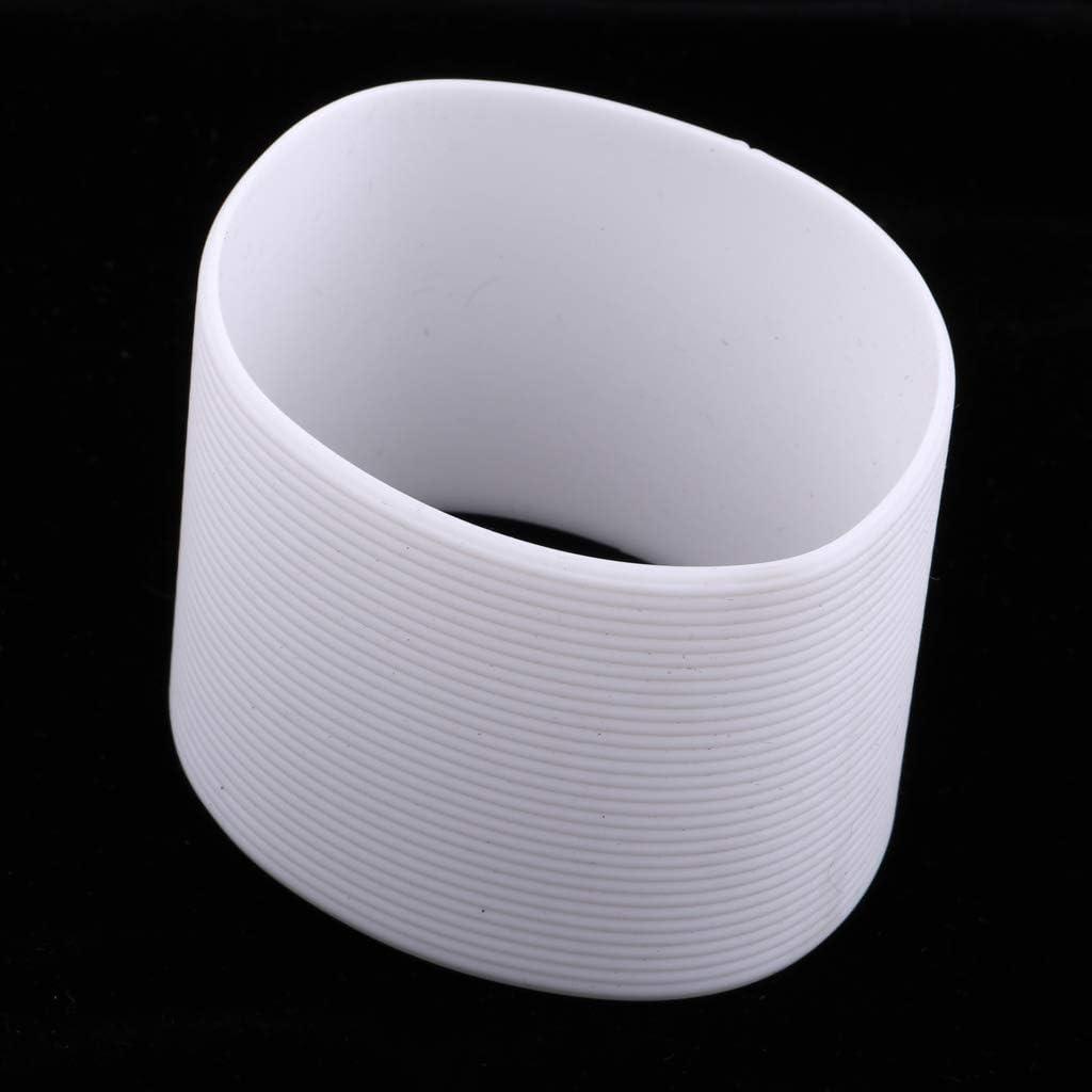 2x Outdoor Silikon Runde Nicht-slip Wasser Flasche Becher Tasse Hülse Abdeckung