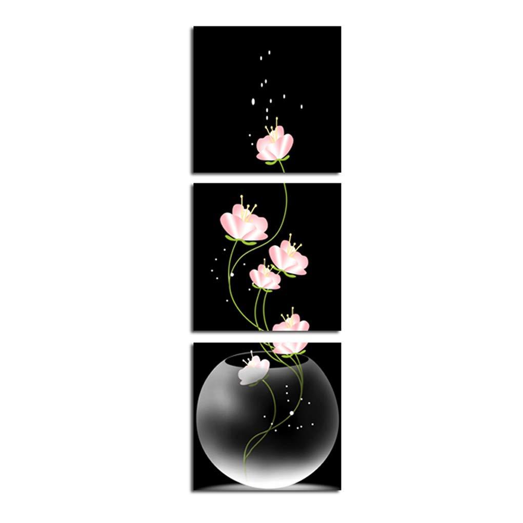 3 Paneles Pintura floración de la Flor Arte de la Pared de Belleza Floral en poliéster Vertical Imagen Imprimir Decoración del Dormitorio Regard Regard Natral