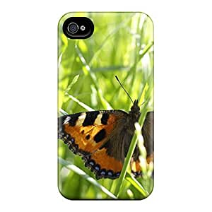 Faddish Phone Beautiful Colorful Butterflies 07 Case For Iphone 4/4s / Perfect Case Cover