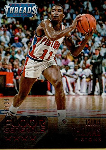 2015-16 Threads Floor Generals Century Proof Red #15 Isiah Thomas /99 Pistons