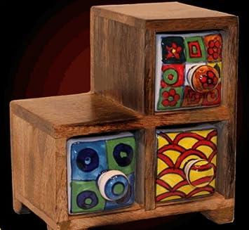 Estantería escalera de madera de cerámica cajones 3020: Amazon.es: Juguetes y juegos
