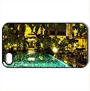 Beautiful - Case Cover for iPhone 4 and 4s (Modern Series, Watercolor style, Black)