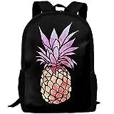 OIlXKV Tie-dye Pineapple Print Custom Casual School Bag Backpack Multipurpose Travel Daypack For Adult