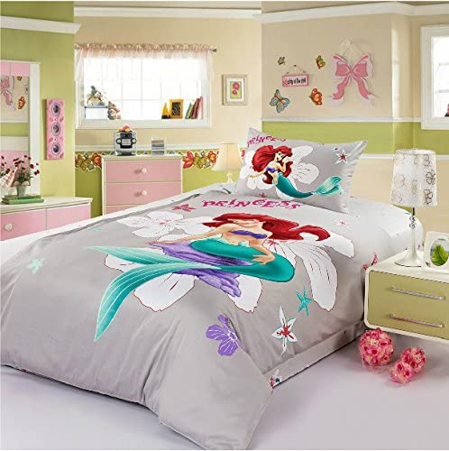 Amazon.com: the little mermaid bedding set comforter set kids twin