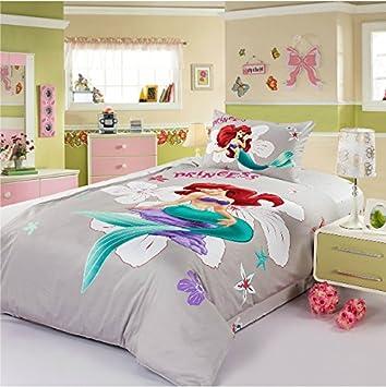 Amazon.com: the little mermaid bedding set comforter set kids twin ...