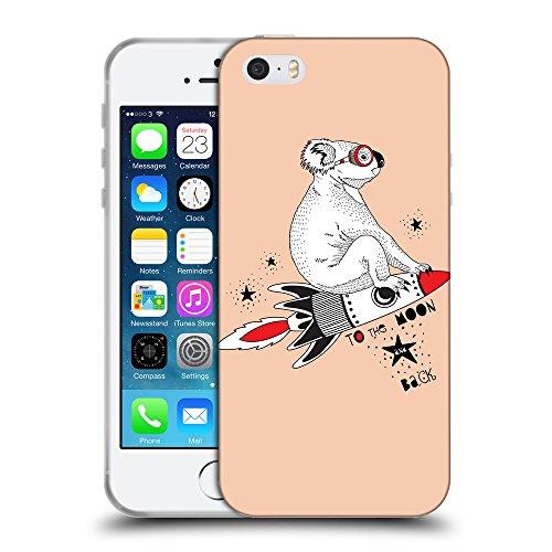 GoGoMobile Coque de Protection TPU Silicone Case pour // Q05240604 Koala volant Abricot // Apple iPhone 5 5S 5G SE
