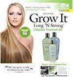 Want Longer Hair? Want Stronger Hair? Grow Hair Fast! Buy Long 'N Strong® - Complete Treatment Set (Lotion, shampoo and texturizing serum) - Longer, Thicker Hair! - Split End Repair - Split end treatment!