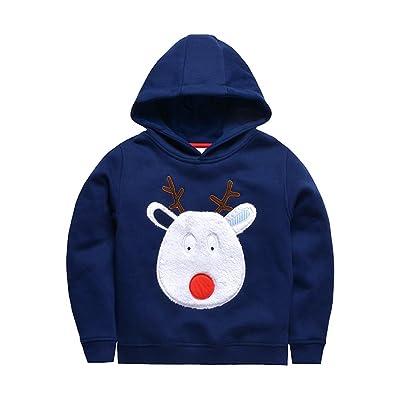 Boys Lightweight Long Sleeve Cotton Christmas deer Printed Toddler Outwear