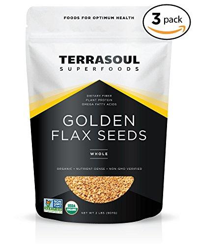 Terrasoul Superfoods Organic Golden Flax Seeds, 6 Pound