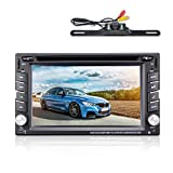 6.2'' Double DIN Car Stereo Car GPS Navigation - Ehotchpotch Car Radio Head Units Touch Screen Car DVD Player In-dash Car Audio AM/FM Radio Bluetooth USB SD iPod With Backup Camera