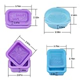 Loves Soap Mold - 21pcs Square Round Oval Silicone Molds - Food-Grade Silicone Handmade Mold/Baking Mold (21PCS)