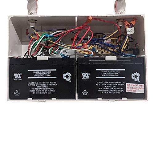 LFI Lights - UL Certified - Hardwired Remote Capable Emergency Light - Heavy Duty - 12V 100W - 12W Heads - EL100HD12