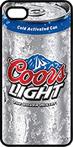 Coors Light Beer Can Black Plastic Case for Apple iPhone 5 or iPhone 5s