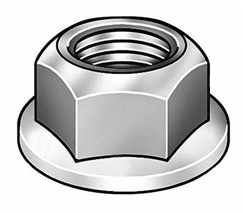 5/8''-11 Self Locking Flange Nut - Serrated, Zinc Plated Finish, Grade 2 Steel, Right Hand, IFI-145