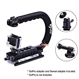 Zeadio Handheld Stabilizer with Accessory Mount + 360 Degree Rotating Adapter + GoPro Adapter for GoPro HD Hero4 - Hero3+ - Hero3 - Hero 2 and Hero 1
