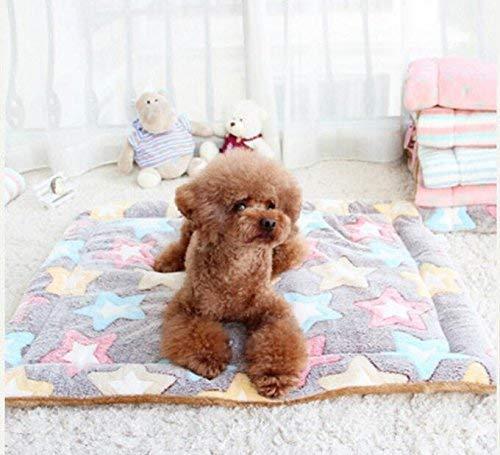 JINGB Pet Supplies Four Seasons Pet Pad Pet Blanket (color   Five-Pointed Star, Size   S) Pet Bed Blanket