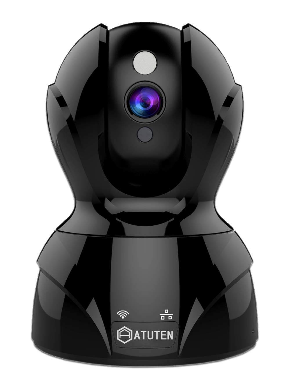 IP Camera, 1536P WiFi Camera Compatible with Alexa Echo Show, Atuten Wireless Smart Security Camera, Motion Detection, IR Night Vision, 2 Way Audio, Email Alarm, Pan/Tilt/Zoom Monitor, Support iOS Android PC