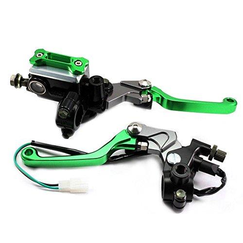 Alpha Rider 7/8 Brake Master Cylinder Reservoir Pivot Levers for Kawasaki NINJA 250R 1998-2012,NINJA 300R 2013-2015,KX65 2000-2015,KX85 2001-2015,KX125/250 2000-2008,KX250F/450F 2004-2015