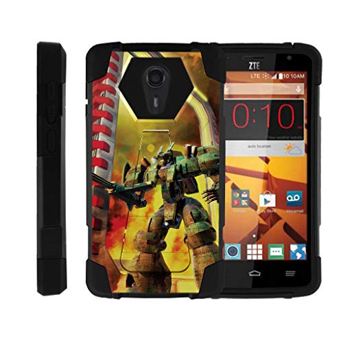 TurtleArmor | Compatible for ZTE Uhura Case | ZTE Quest Case | N817 [Dynamic Shell] Impact Cover Hard Kickstand Hybrid Duo Shock Fitted Robot Android Design - Gigantic Automation