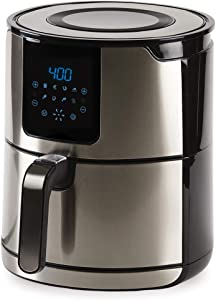 Emeril Lagasse AirFryer: 6-Quart, Hot Air Fryer by Emeril Everyday with 8-in-1 Cooking Presets and LED Digital Touchscreen, Crisp, Bake, Roast, Broil, Reheat and More, 1700 Watts – Stainless Steel (6 QT)