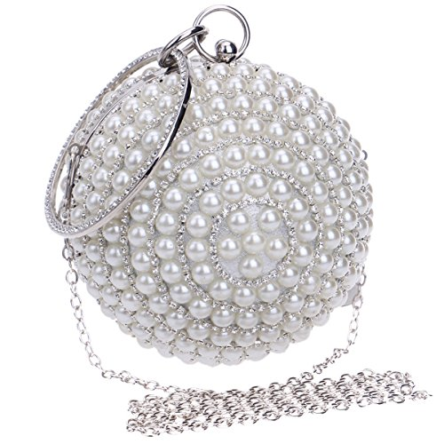 Bling Pearls Bride Handbag with Chain Women