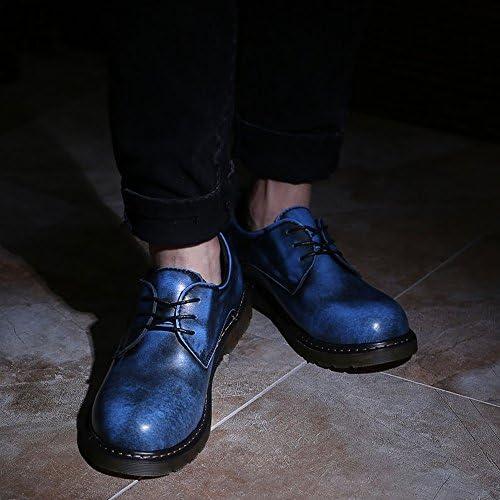 GBY Herrenschuhe Glatte Echtleder-Außensohle Niedrige Stiefelette für Herren, die Schuhe Fahren (Color : Blau, Größe : 39 EU)