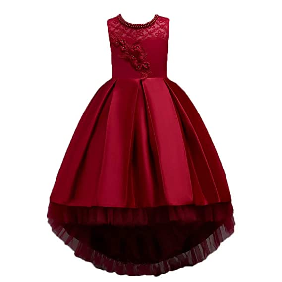 624889563c912 ADHS Girl Sleeveless Embroidery Princess Pageant Dresses 3-8 Year ...