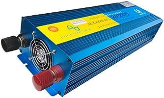 Inversor de corriente de arranque suave de onda sinusoidal de IutuanIPower, para coche, caravana y barco, 2000 W/4000 W (pico), 12 V DC a 230 V AC, ...
