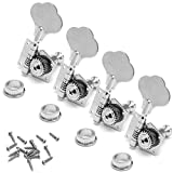 ULKEME New Bass Guitar Machine Heads Knobs Tuners Tuning Pegs Tuners Guitar Parts 4PCS