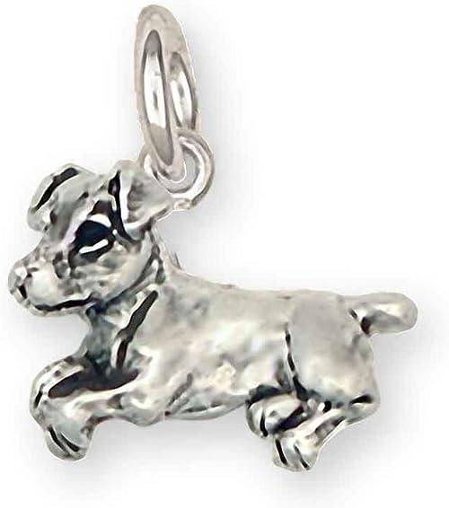 .925 Sterling Silver Jack Russel Terrier Dog Bracelet