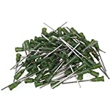 BQLZR Green and Silver 1.5 Inch Length Dispensing Blunt Needle Tips 14Ga Pack of 100