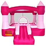 Cloud 9 Princess Bounce House - Inflatable Pink Castle without Blower