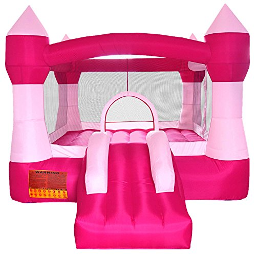 (Cloud 9 Princess Bounce House - Inflatable Pink Castle Without Blower)