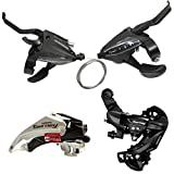 Shimano 7 Speed Groupset ST-EF500 3x7 Speed Shifters Set + FD-TY500 Front Derailleur + RD-TY300 Rear Derailleur Direct Mount
