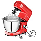 : CHEFTRONIC Stand Mixer SM-985, 550W 6 Speeds Tilt-head Kitchen Electric Mixer 4.2 Quart Stainless Steel Bowl with Pouring Shield for Mother's Day, Xmas, Wedding, Thanksgiving, Birthday Gift