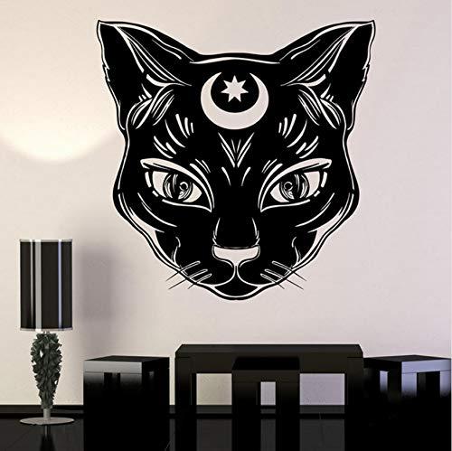 AIPIOR Gato Negro Luna Magia Vinilo Tatuajes de Pared decoración ...